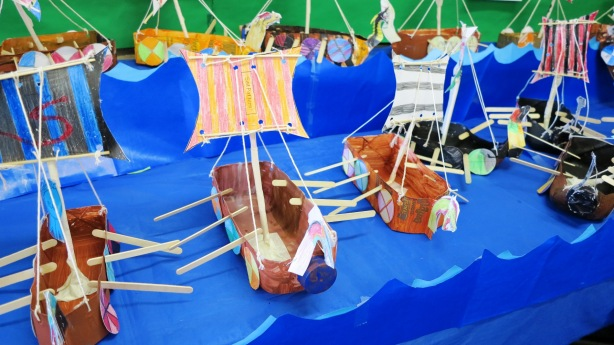 viking ships from St Josephs Primary, Murwillumbah